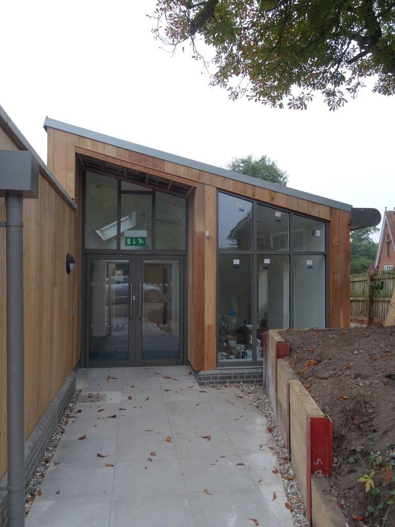 The new entrance way