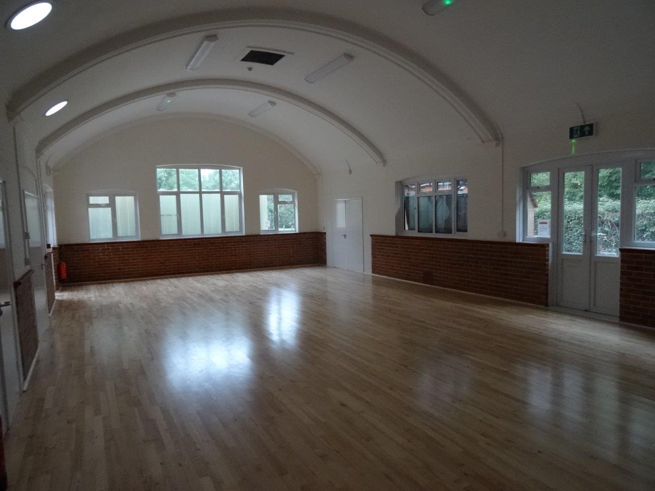 New wooden floor with underfloor heating